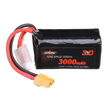 Coupone for URUAV VTC6 18650 4S 14.8V 3000mAh 15/30C 4S1P LR Li-ion LionPack Battery XT60 Plug for GEPRC Crocodile Baby 4 Crocodile7 Long Range FPV Racing Drone