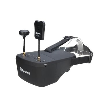 Coupone for Eachine EV800D 5.8G 40CH Diversity FPV Goggles 5 Inch 800*480 Video Headset HD DVR Build in Battery