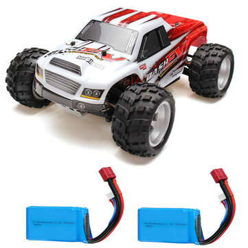 Coupone for WLtoys A979B with Two Batteries 1/18 2.4G 4WD Monster Truck RC Car 70km/h RTR Model