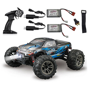 Coupone for Xinlehong Q901 with Two Battery 1/16 2.4G 4WD 52km/h Brushless Proportional Control RC Car LED Light RTR Toys