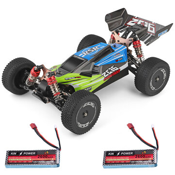 Coupone for Wltoys 144001 1/14 2.4G 4WD High Speed Racing RC Car Vehicle Models 60km/h Two Battery 7.4V 2600mAh