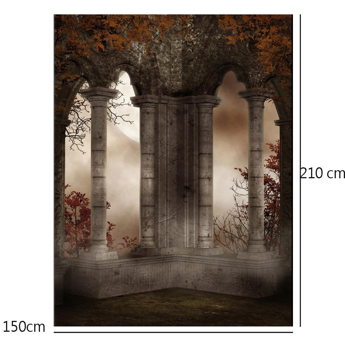 Vinyl szövet háttér.Kastély fotó háttér fotózáshoz 1.5m x 2.1m 1142718