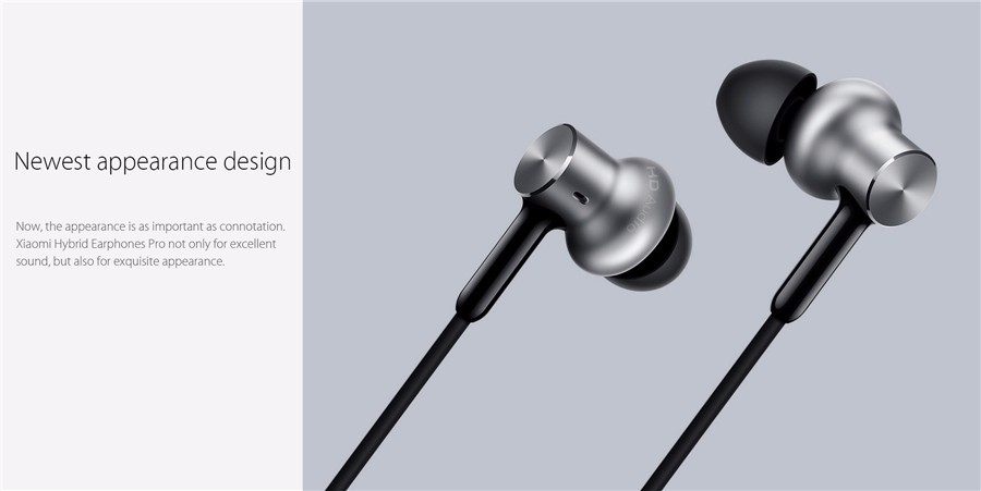 Original Xiaomi Hybrid Pro Three Drivers Graphene Earphone Headphone With Mic For iPhone Android