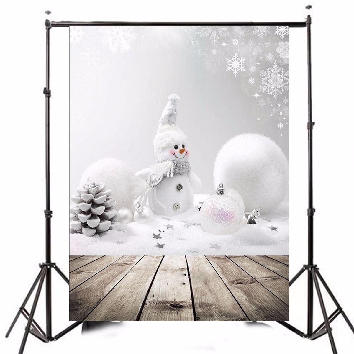 Vinyl szövet háttér fotózáshoz.Hóemberes karácsonyi fotó háttér 0.9m x 1.5m 1130341