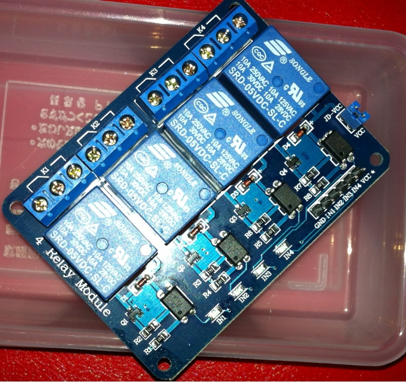 Geekcreit 5V 4 Channel Relay Module For Arduino PIC ARM DSP AVR MSP430 Blue