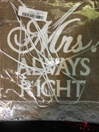 1 Pair Mr Right Mrs Always Right Wedding Chair Bunting Hessian Burlap Banner Decoration