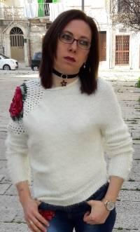 Casual Women Crochet Hollow Plush Rose Irregular Knitted Sweaters