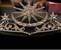 Bride Star Moon Queen Crystal Crown Tiara Wedding Bridal Party Prom Headbrand Hair Jewelry