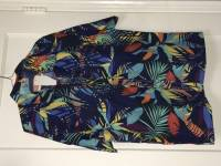 Plus Size Summer Hawaii Style Casual Holiday Printed Short Sleeve Beach Shirts for Men