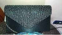 Women  Evening Bridal Wallet Envelope Flash Diamond Clutch Portable Shoulder Bag Crossbody Bag