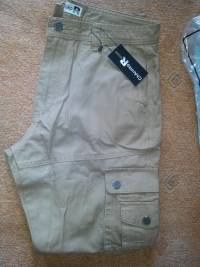 Mens Plus Big Size 30-46 Cargo Pants Outdoors Loose Cotton Multi Pocket Causal Solid Color Pants