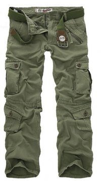 Mens Plus Size Outdoor Military Casual Multi Pockets Cotton Sport Cargo Pants