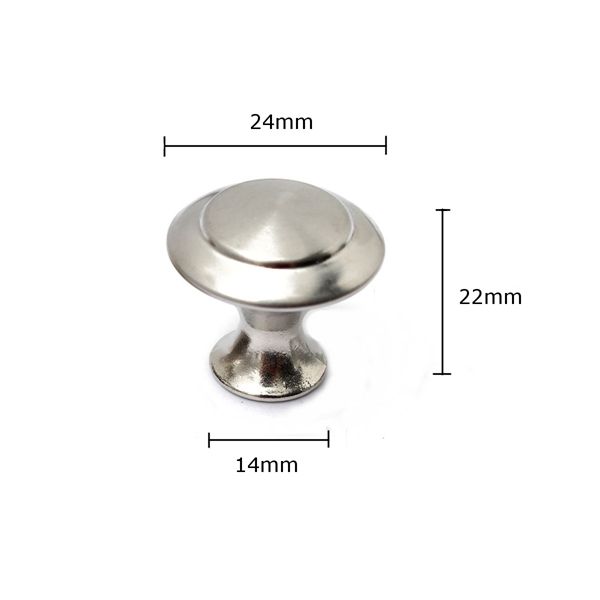 24/28mm Stainless Steel Satin Nickel Kitchen Cabinet Pull Knob Hardware Screw