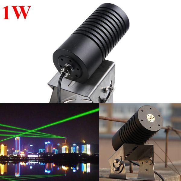 520нм 1Вт водонепроницаемый открытый 1000 МВт зеленый лазерный модуль пейзаж лазерный луч