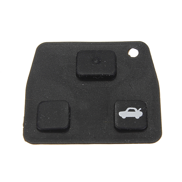 Замена 2/3 автомобиля кнопки дистанционного ключа черная резиновая прокладка для Тойота