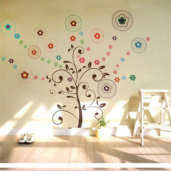 Удачная стенная обстановка искусства этикеток дерева сменный виниловый стенной внутренний декор фона
