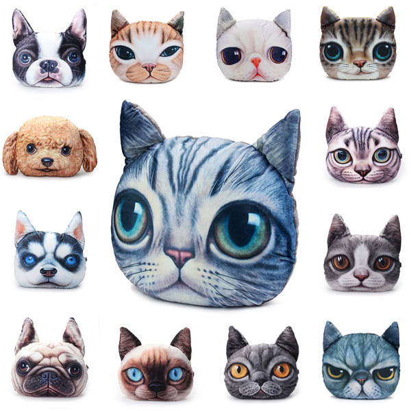Outstanding 2 Sizes Plush Creative 3D Dog Cat Throw Pillows Meow Star Sofa Bed Cushion Andrewgaddart Wooden Chair Designs For Living Room Andrewgaddartcom