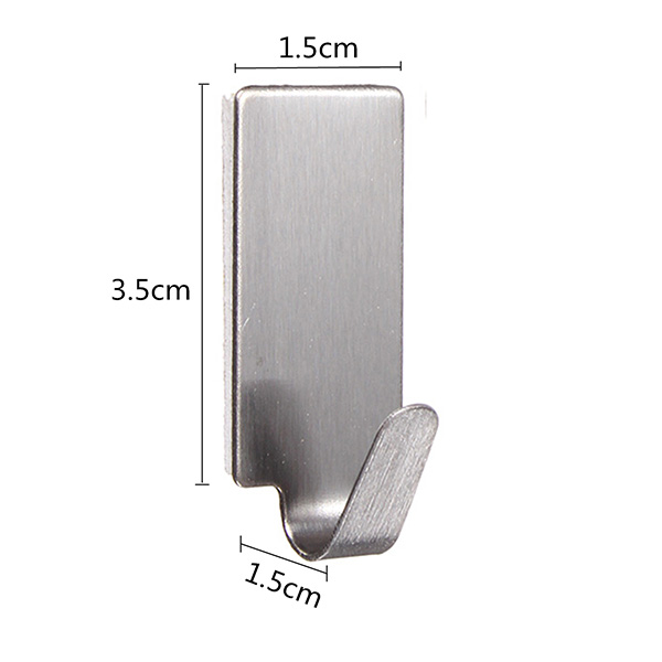 stainless steel adhesive hanger