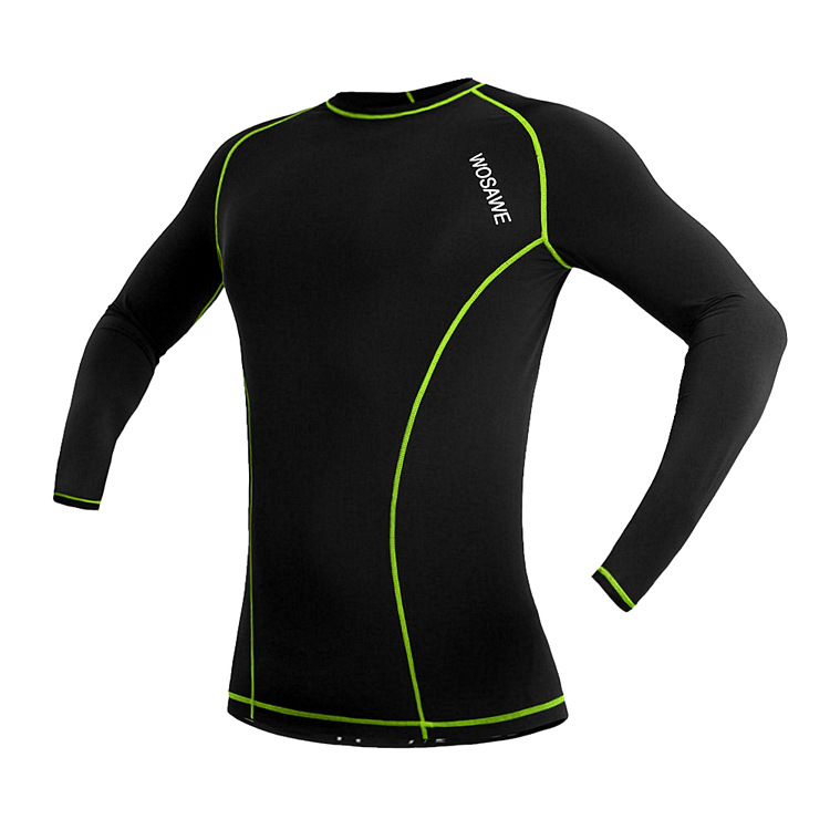 WOSAWE Long Sleeve Unisex Cycling Bicycle Bike Jersey Breathable Sports Shirt Cycling Clothing
