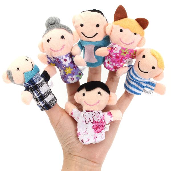 6 шт пальчиковые куклы плюшевые игрушки кукла ткани детское постельное рассказы помощник