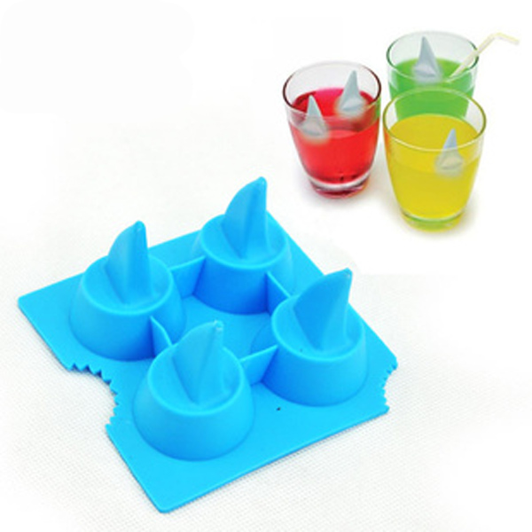 Silicone Shark Fin Ice Tray Cube Freeze Maker Chocolate Mold Mold
