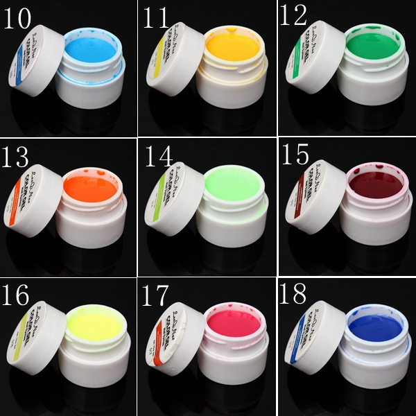 36 Pure Colors UV Gel Builder Nail Art DIY Decoration Manicure
