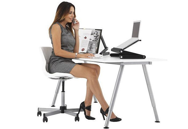Folding Table Stand for Notebook Laptop with Mouse Holder 10