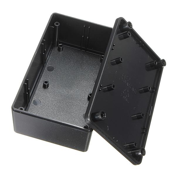 ABS Пластиковый электронный корпус Коробка Черный переход Чехол 103x64x40mm