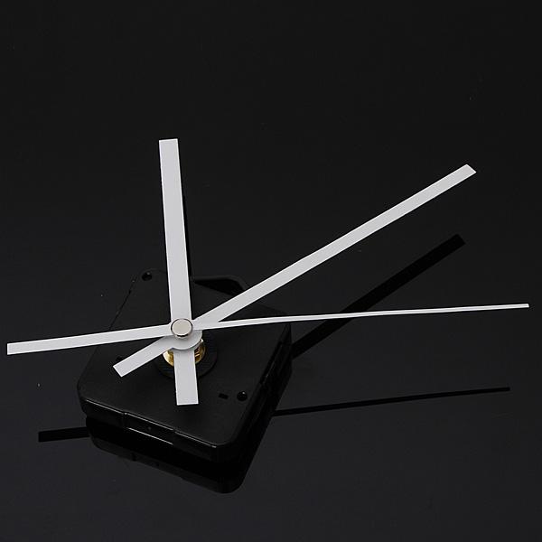 DIY белые стрелки Кварцевый настенные часы движения с механизмом