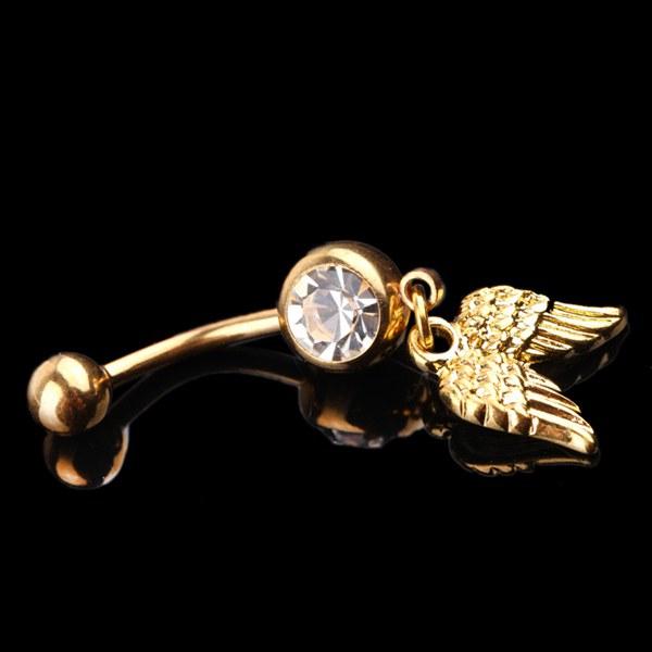 Wings Crystal Belly Ring