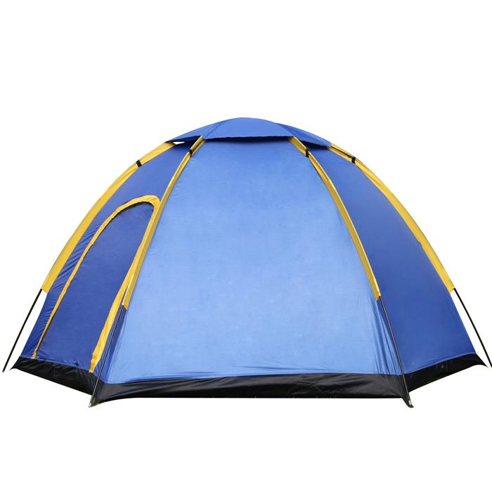На открытом воздухе 3-4 Люди Кемпинг Палатка Мгновенная всплывающая подсказка Водонепроницаемы Большая семья UV Sunshade Canopy фото