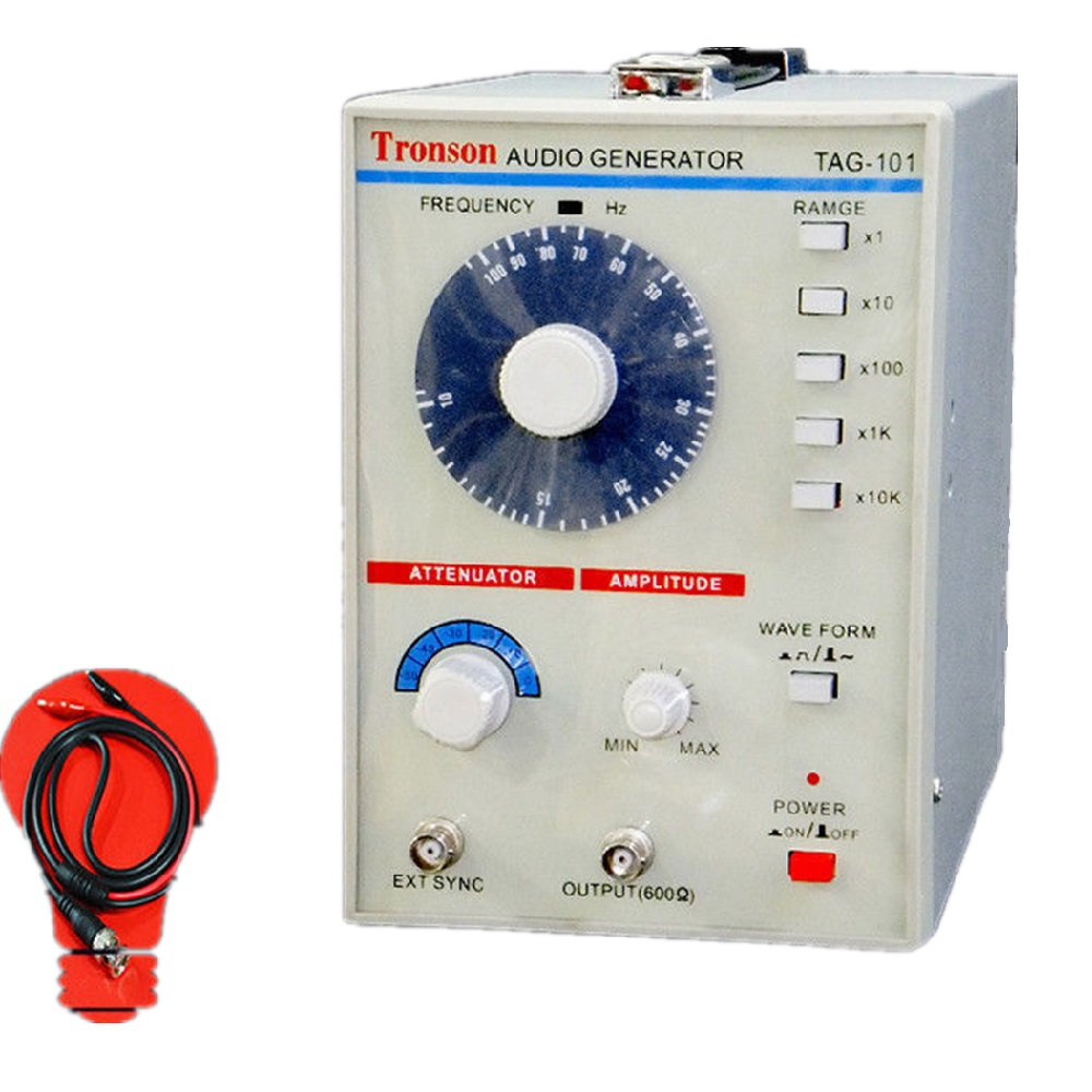 110V/220V TAG-101 Low Frequency Audio Signal Generator Source 10Hz-1MHz 600Ω