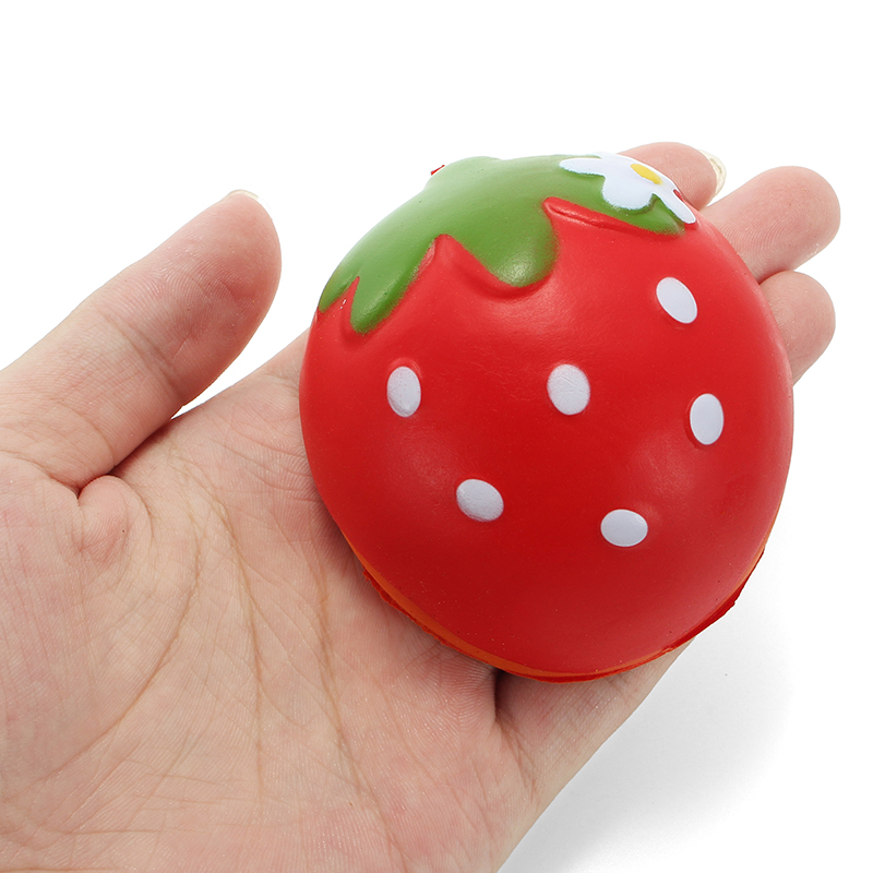 Squishy Half Strawberry 7cm Soft Slow Rising Fruit Collection Gift Decor Toy