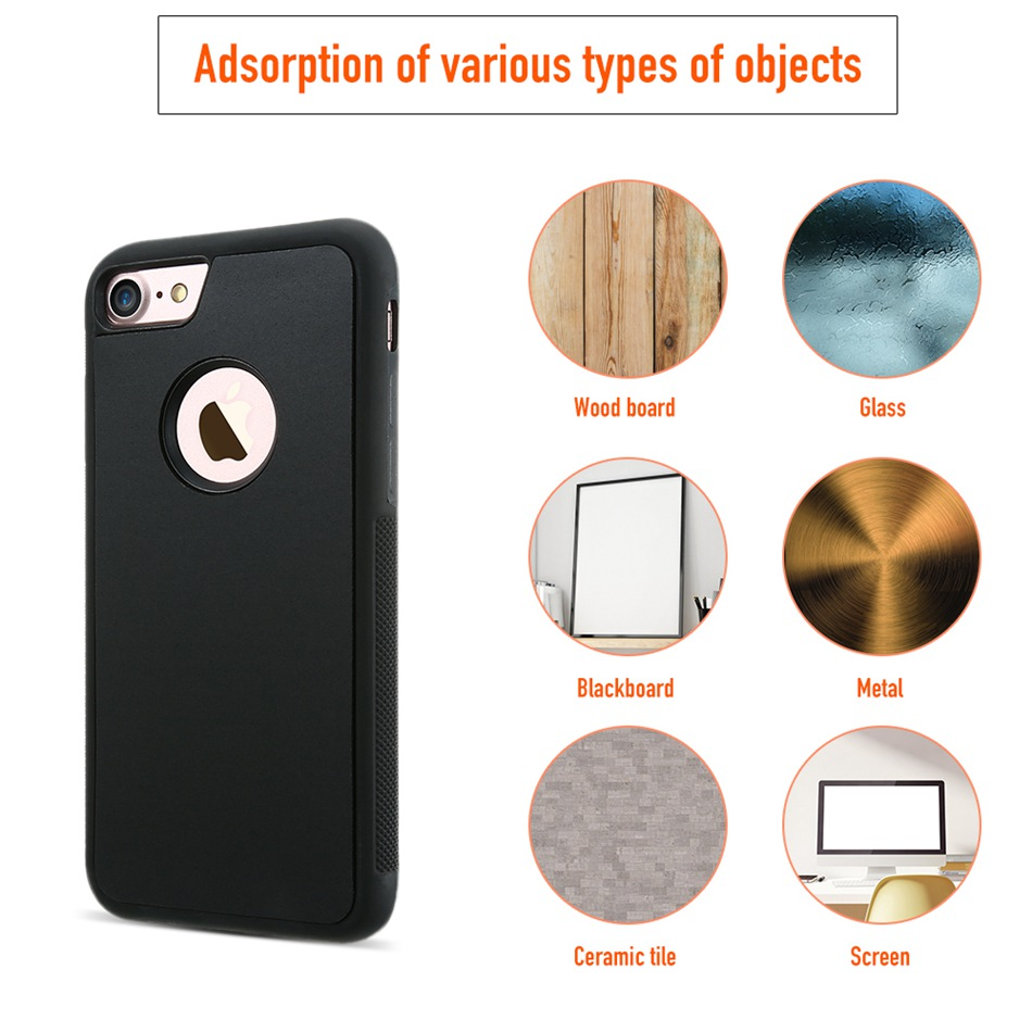 newest a1db2 1773a Ultra Thin Anti Gravity Magical Suction Case For iPhone 6 Plus 6S Plus 5.5  Inch