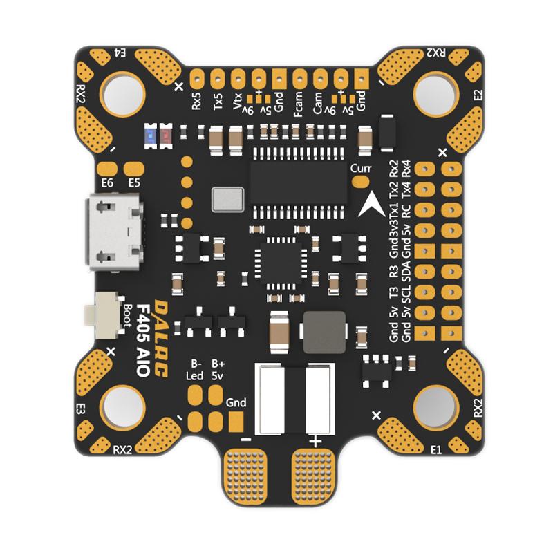 DALRC F405 AIO Betaflight F4 Flugsteuerung MCU STM32F405 MPU6000 OSD 9V / 1,5A 5V / 2A BEC 200A PDB