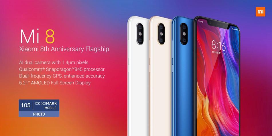 Xiaomi Mi8 Mi 8 Pro 6 21 inch 6GB RAM 128GB ROM Snapdragon 845 Octa core 4G  Smartphone