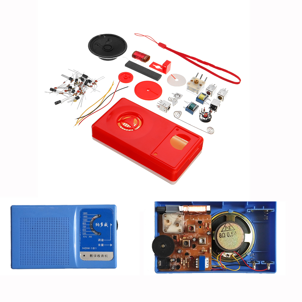 3Pcs Seven AM Radio Electronic DIY Kit Electronic Learning Set