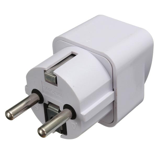Универсальный US / UK / AU К ЕС адаптер питания переменного тока 2-контактный адаптер конвертера Travel Разъем Зарядное устройство