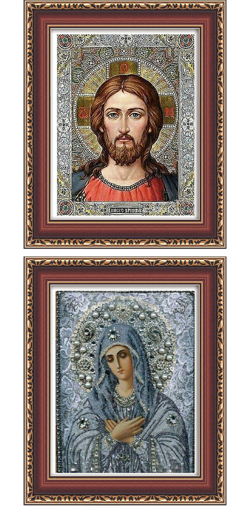 Honana WX-677 5D Round Diamond Painting DIY Cross Stitch Home Decor Diamond Embroidery Religious Gift