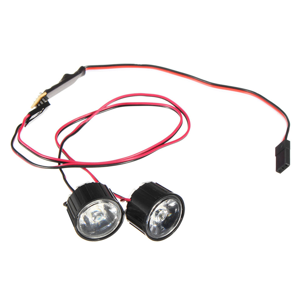 1 Pair LED Light Headlight Spotlight RC Car DIY for Traxxas Slash REVO E-REVO X-MAXX