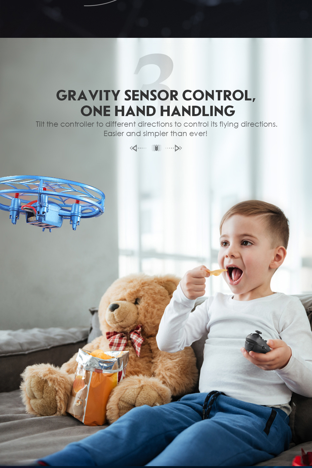 JJRC H64 Spiderman with G-Sensor Control Voice Prompt Altitude Hold Mode RC Drone Quadcopter