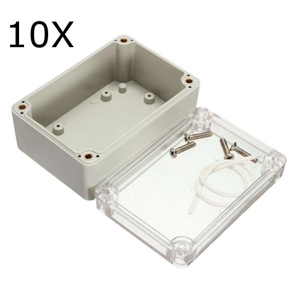 10pcs 100x68x50mm Elektronische Kunststoffbox Wasserdichte Elektrische Anschlussdose