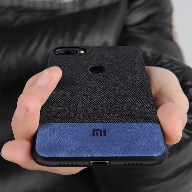 BakeeyРоскошныеСоединенияТканиSoftСиликоновый Край Противоударный Защитный Чехол Для Xiaomi Mi8 Lite