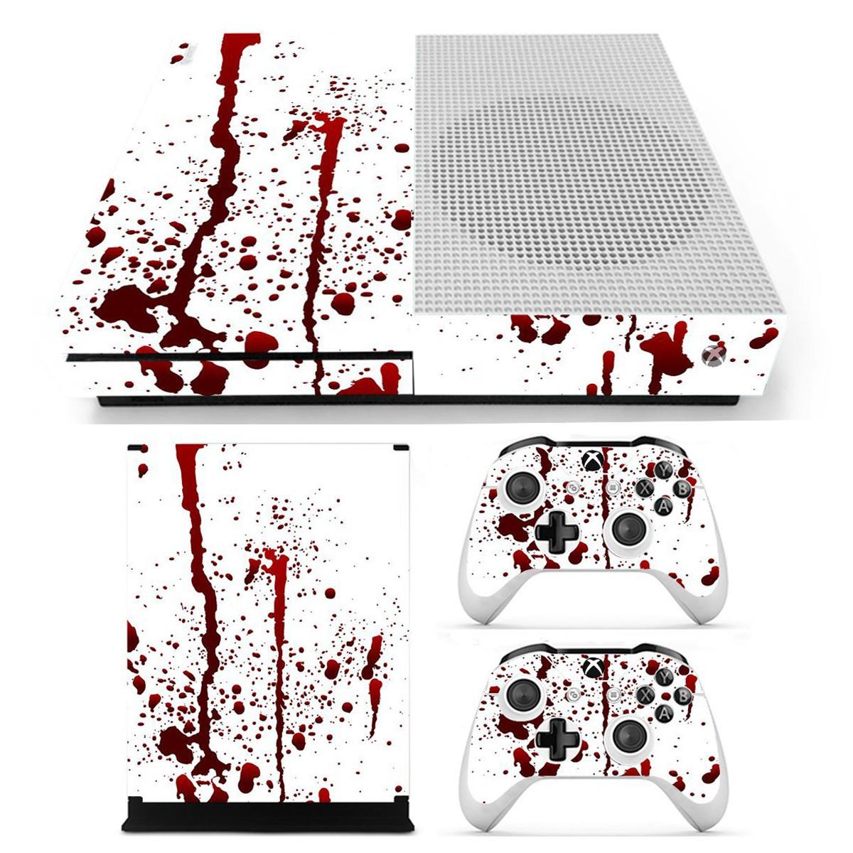 Кровавые наклейки с наклейками наклейки для Xbox One S Игровая консоль и 2 контроллера