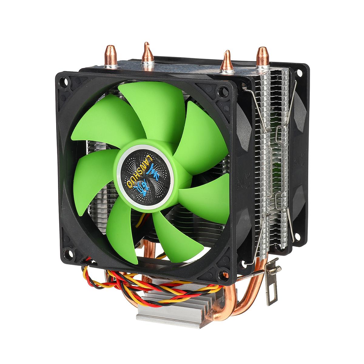 90mm 3Pin CPU Cooler Heatsink Quiet Fans For Intel LGA775/1156/1155 For AMD/AM2/AM3 Dual-sided Fan