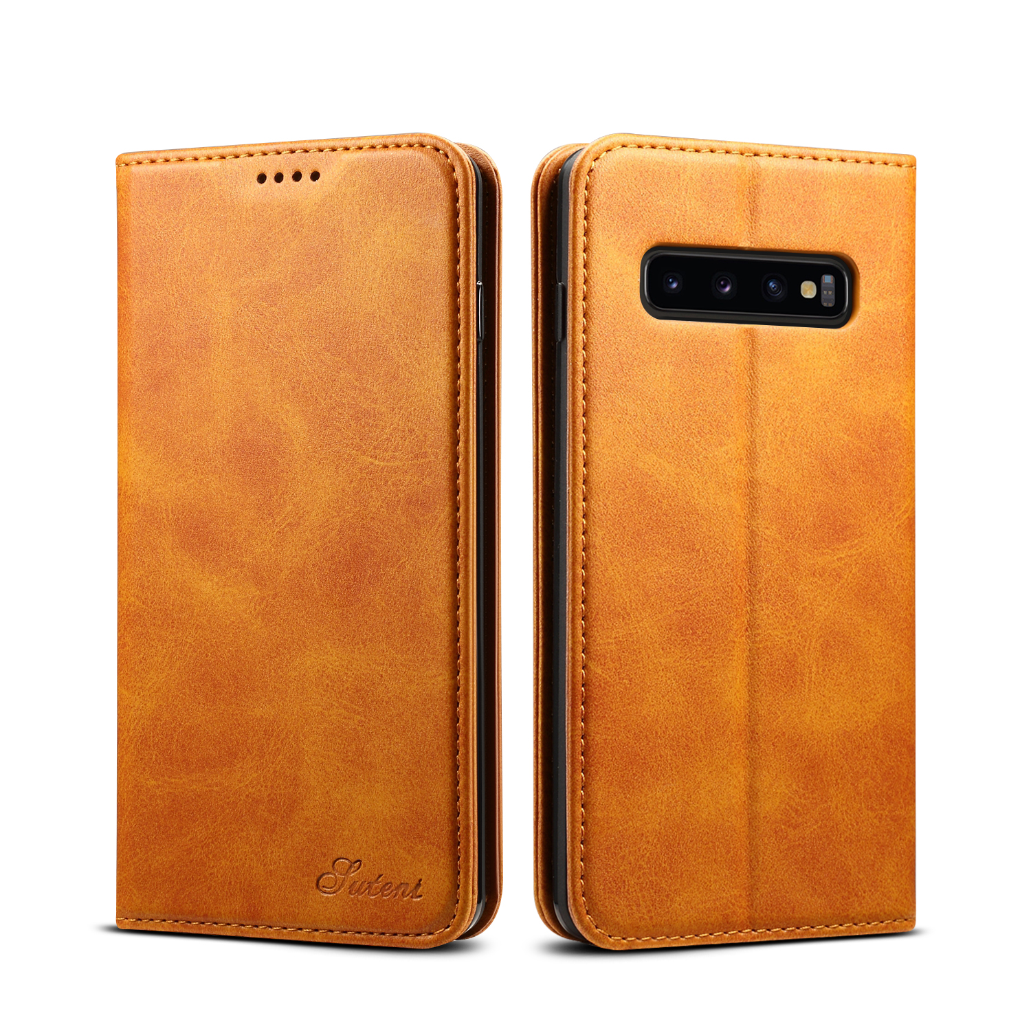 Bakeey Magnetic Flip Protective Case For Samsung Galaxy S10 6.1 Inch Wallet Card Slot Kicktand Cover