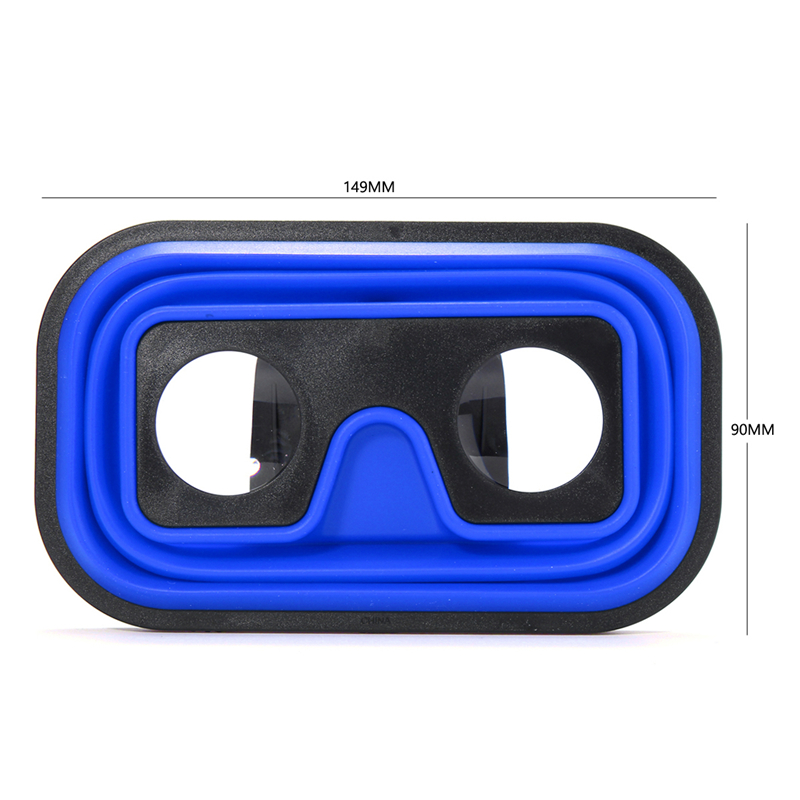 3D Foldable Silicone Virtual Reality VR Glasses for 4 0 to 5 8 Inches Cell  Phone