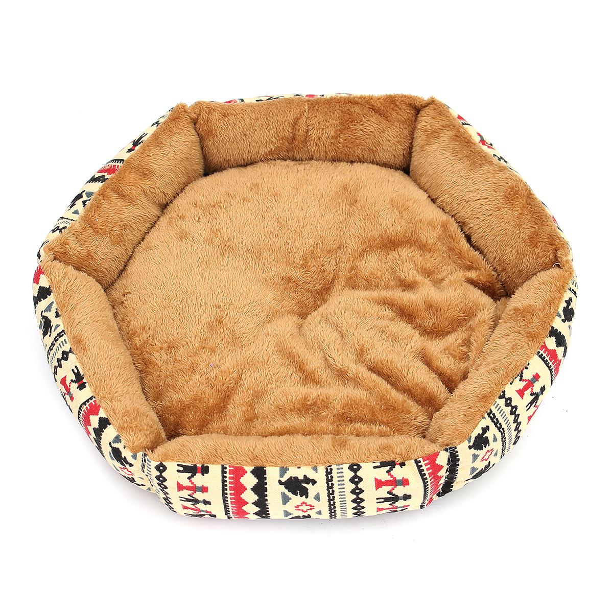 48cm Pet Dog Cat Bed Soft Cushion Winter Warm Kennel Mat Pad Blanket Gift