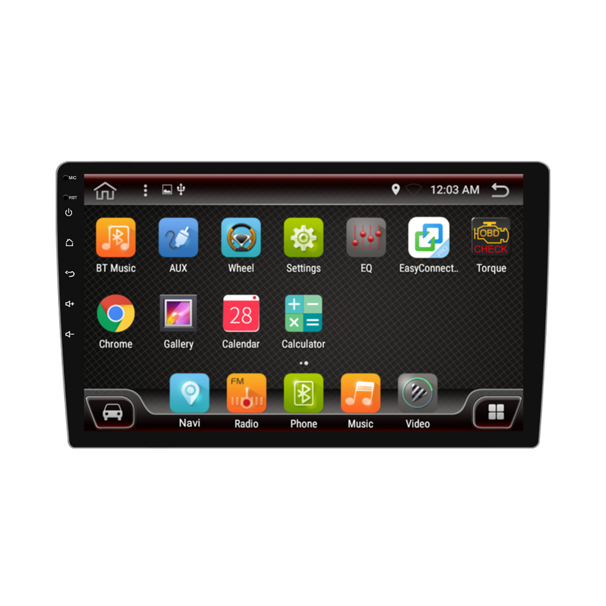 PX6 10.1 Inch 1 DIN 4+64G for Android 9.0 Car MP5 Player 8 Core Touch Screen Stereo GPS bluetooth FM AM Radio