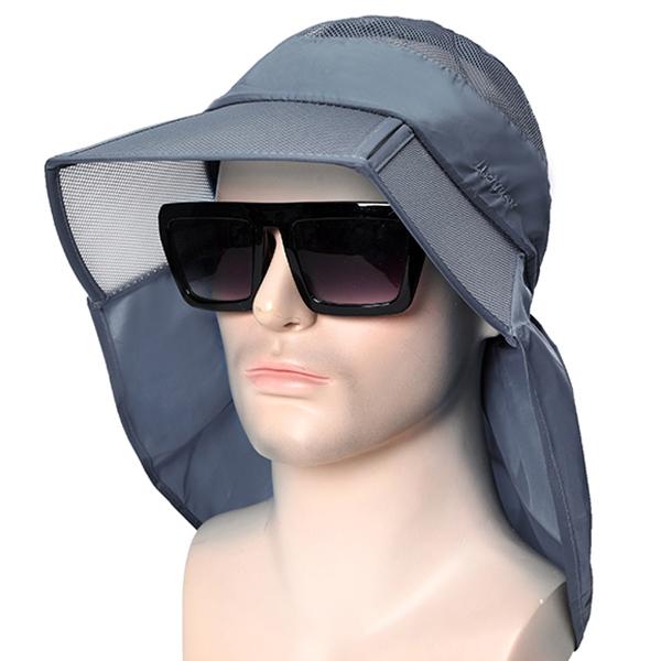 3a09b6a7f Men Women Breathable Folding Sun Hat Wide Brim Visor Bucket Hat Outdoor  Sport Anti-UV Fishing Hat
